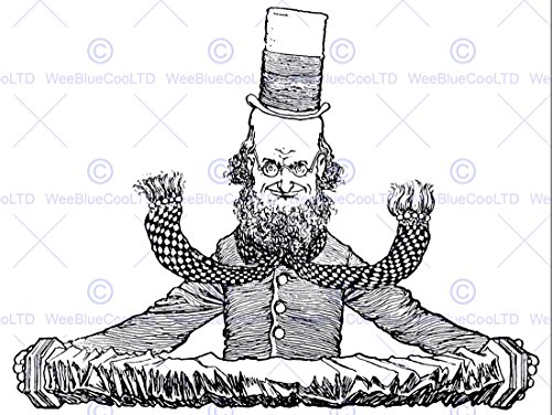 Wee Blue Coo LTD Accordian Man TOP HAT Heath Robinson Art Print Poster Picture HP202