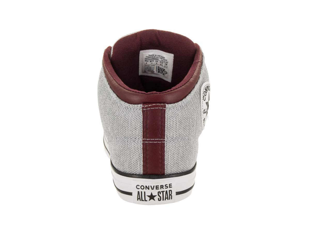 Amazon.com  Converse Chuck Taylor All Star High Street High Top Sneaker  White Dark Burgundy 235dca183