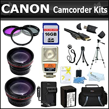 Essentials Kit para Canon VIXIA HF S200 videocámara memoria ...