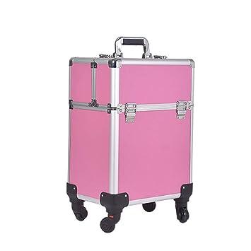 b6abfba18 Maletín de Maquillaje Profesional Carretilla de aleación de Aluminio Caja  de tocador de múltiples capacidades de