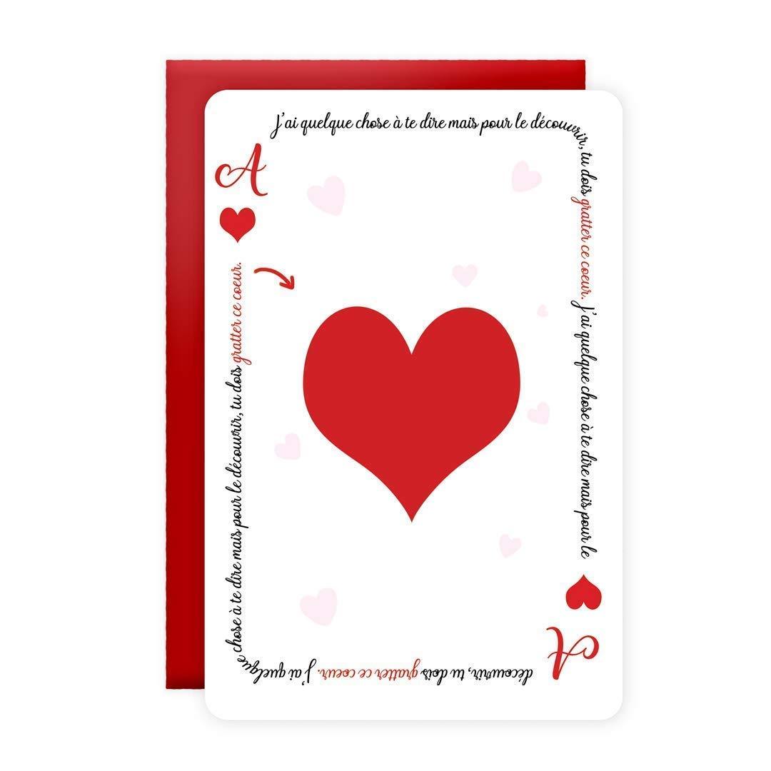 La Carte à jouer pour déclarer son amour - pour la Saint-Valentin et autres occasions amoureuses