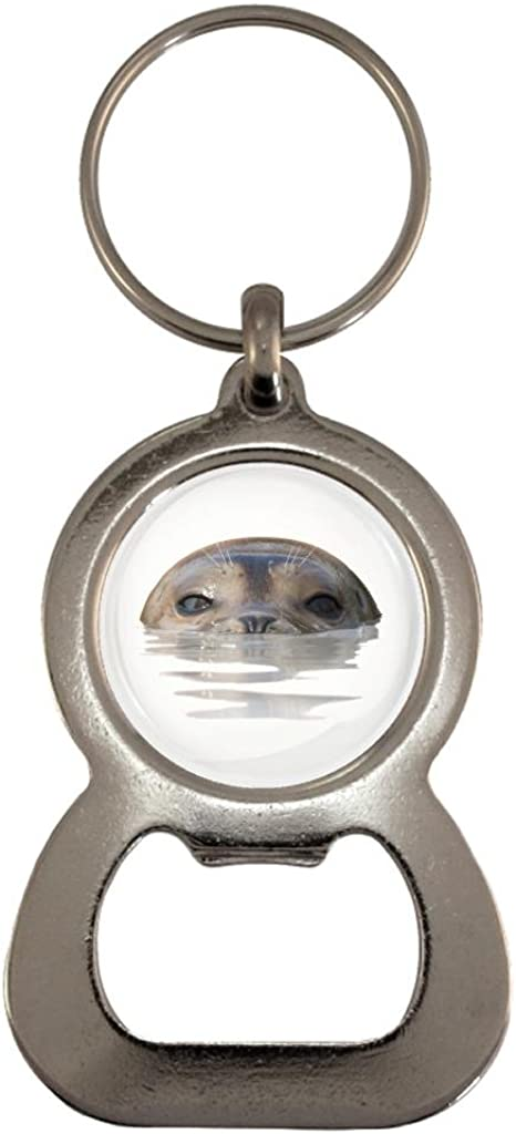 Seal Image Metal Bottle Opener Keyring in Gift Box