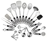 #4: Stainless Steel Kitchen Utensil Set, 23-Pc Set, Everything You Need For Cooking Included, Great Gift Idea For Your Loved One.