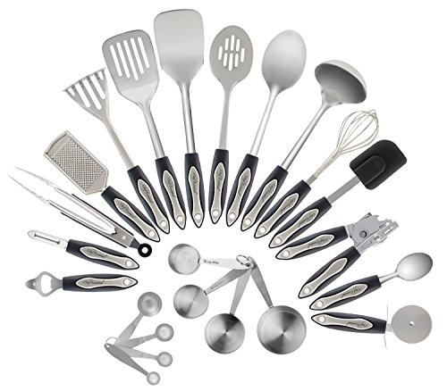Steel Stainless Utensil (Stainless Steel Kitchen Utensil Set, 23-Pc Set, Everything You Need For Cooking Included, Great Gift Idea For Your Loved One.)