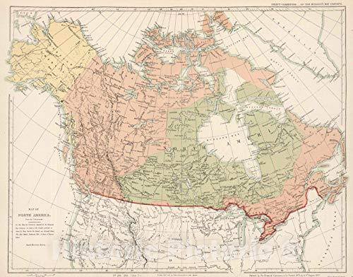 Historic Map | 1857 Map of North America. Hudson's Bay Company (Arrowsmith) ordered by House of Commons | Vintage Wall Art | 24in x 18in