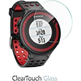 BoxWave ClearTouch Glass Garmin Forerunner 220 Screen Protector - Premium HD Tempered Glass Screen Protector