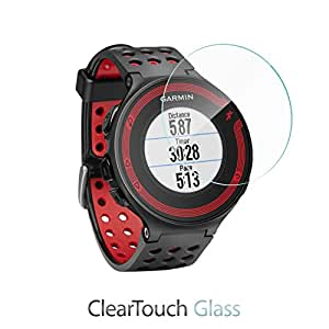 Garmin Forerunner 235 Screen Protector, BoxWave [ClearTouch Glass] 9H Tempered Glass Screen Protection for Garmin Forerunner 235