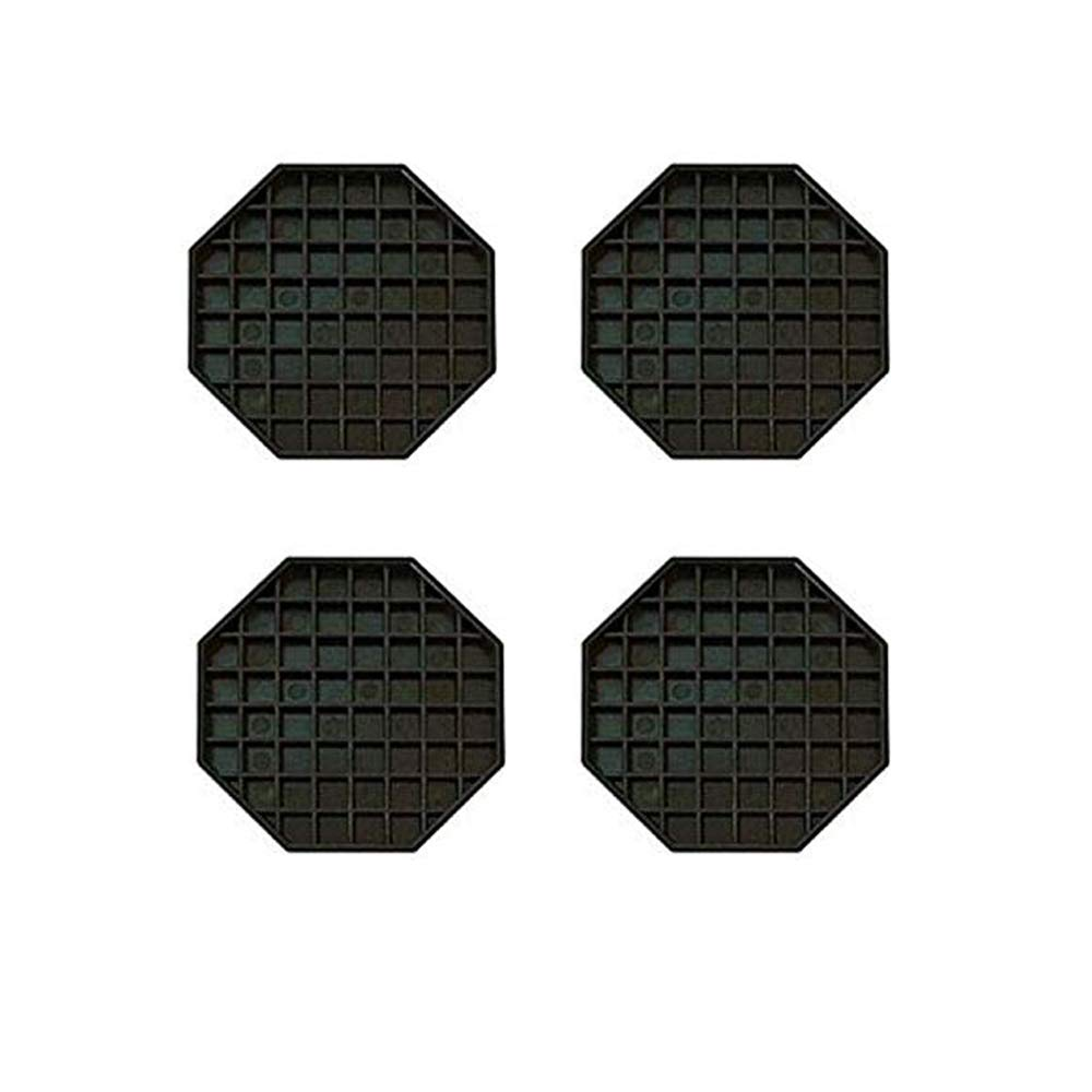 Happy Reunion Drip Trays 6'' Coffee Countertop Octagon Drip Tray Black Plastic Coffee Drip Tray With Honeycomb Grid, Pack of 4 (4 Pcs 6'') by Happy Reunion