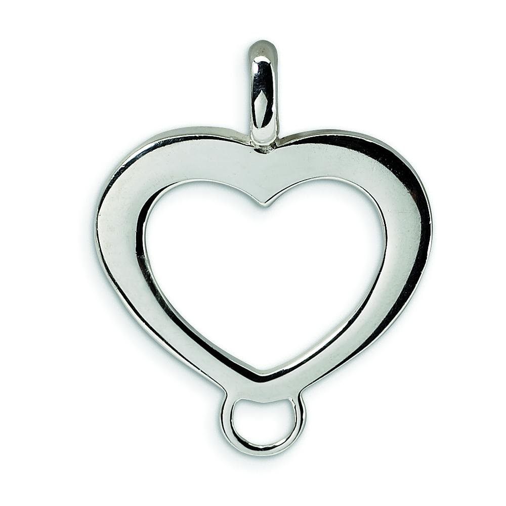Sterling Silver Heart Charm Holder