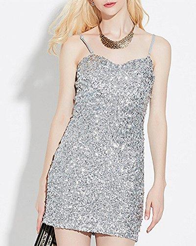 Damen Gatsby Pailletten Partei Cocktail Bodycon Sling Mini Kleid ...