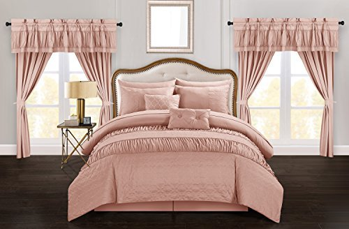 Chic Home Mykonos 20 Piece Comforter Set Striped Ruched Ruff