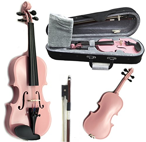 SKY Brand New Children's Violin 1/16 Size Pink Color