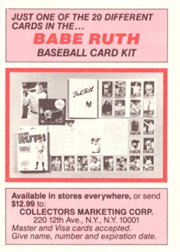 Amazoncom 1989 Collectors Marketing Corp Babe Ruth Limited Edition