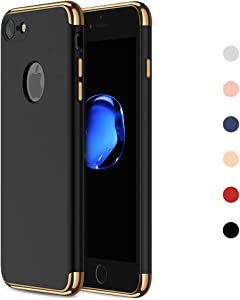 NAISU iPhone 7/8 Case, iPhone 7/iPhone 8 Back Cover, Ultra Slim & Rugged Fit Shock Drop Proof Impact Resist Protective Case, 3 in 1 Hard Case for Apple iPhone 7/8 - Black