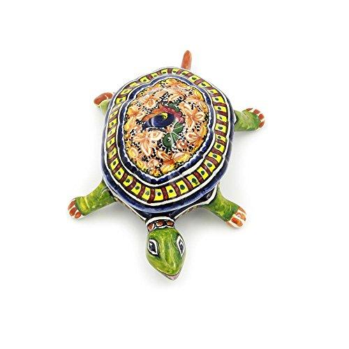 Coimbra Ceramics Hand-painted Decorative Jewelry Box Turtle XV Century Replica