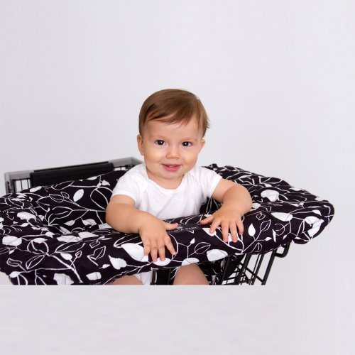 Balboa Baby Shopping Cart Cover, Black and white Leaf Color: Black and White Leaf NewBorn, Kid, Child, Childern, Infant, Baby