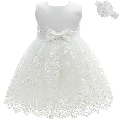 AHAHA Vestido Bautizo Bebe Niña Vestido de Fiesta Bebe
