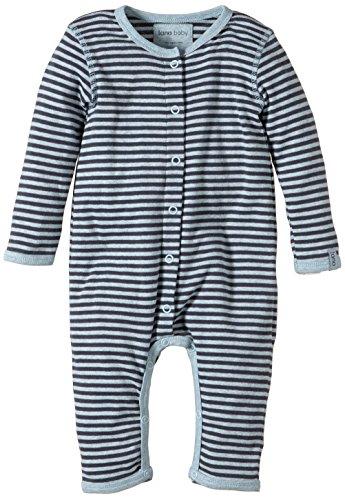 Lana Natural Wear Unisex - Baby Spieler Overall Finn, Gestreift, Gr. 68 (Herstellergröße: 62/68), Mehrfarbig (Blue Air/Ombre Blue 1231)