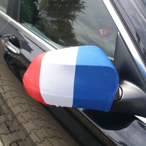 Spiegelflagge Spiegelfahne Frankreich 1 Paar Auto Pkw Ruckspiegel