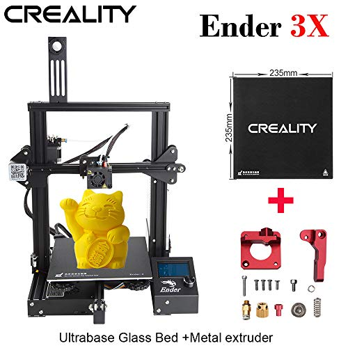 (ENOMAKER Creality Ender 3X 3D Printer with Ultrabase Glass Bed and Aluminum Alloy Bowden Metal Exutruder Frame, Resume Printing,)