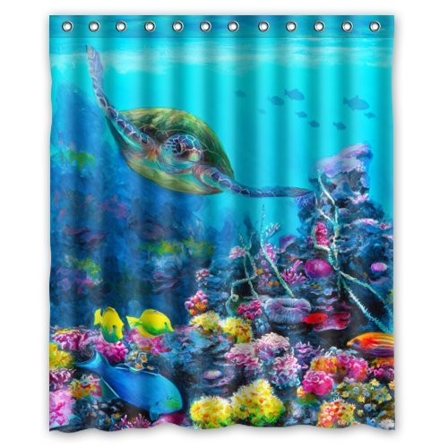 Waterproof Sea Turtle Shower Curtain
