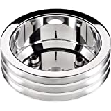 Billet Specialties 79230 Polished Long Water Pump 3 Groove Crankshaft Pulley for Big Block Chevy