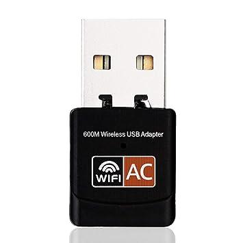 FancyswES8eety 2.4GHz 5GHz Adaptador WiFi inalámbrico ...