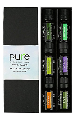 Natural Healing Essential Oil Set. Best Aromatherapy Essential Oils Set for Health, Immunity, etc. Essential Oil Kit- Lavender Essential Oil, Grapefruit Oil, Peppermint, Tea Tree, Thyme & Bergamot Oil