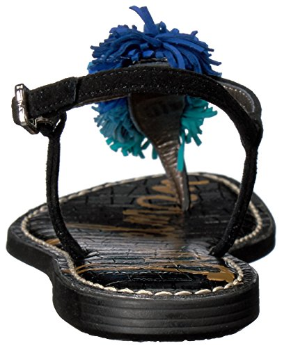 Edelman Piso Azul black Sandalias Sam De Multi Mujeres blue Talla Negro fIUxdUTqw6
