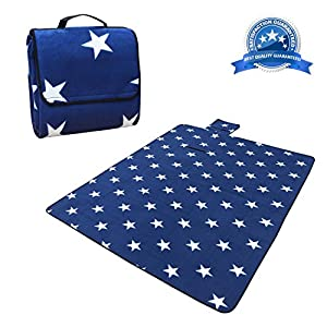 """BERENNIS Extra Large Picnic & Outdoor Blanket, Waterproof and Comfortable with Soft Fleece 