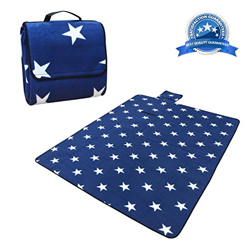 """Folded Picnic Blanket (Extra Large Picnic &Outdoor Blanket, Tote Waterproof with Soft Fleece 