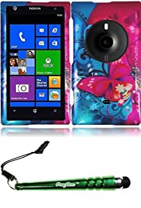 FoxyCase(TM) FREE stylus AND For Nokia Lumia Elvis 1020 Design Cover Case - Butterfly Bliss cas couverture