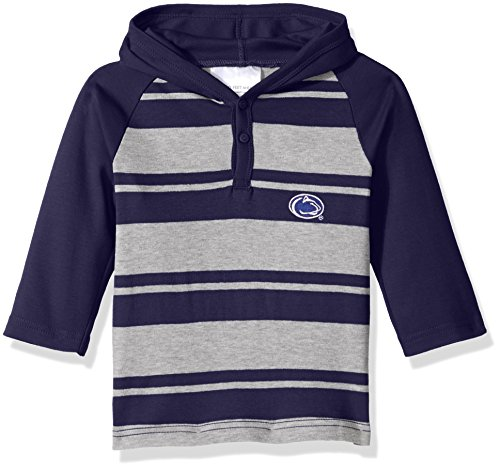 Two Feet Ahead NCAA Penn State Nittany Lions Toddler Boys Rugby Long Sleeve Hooded Shirt, Size 2, Navy/Heather (Shirt Rugby Lions)