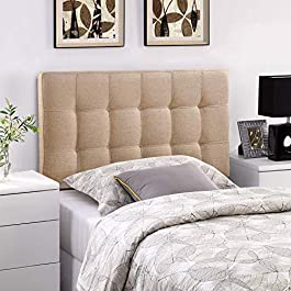 Modway Lily Tufted Linen Fabric Upholstered...