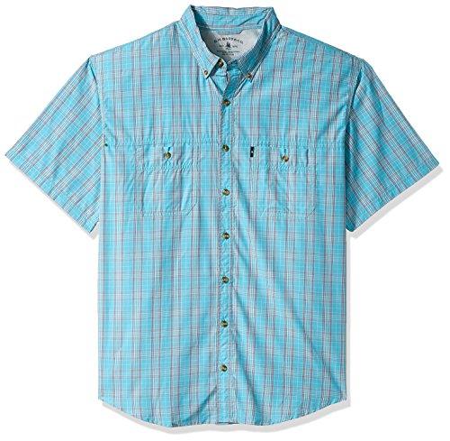 Explorer Mens (G.H. Bass & Co. Men's Tall Explorer Fancy Short Sleeve Button Down Shirt, Rich Meadowbrook, 3X-Large Big)