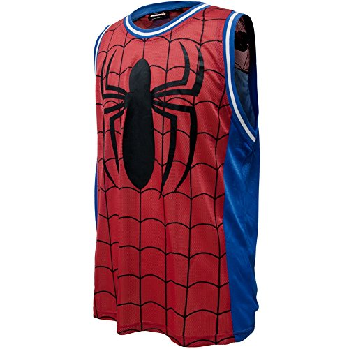 Spider-Man - Mens Jersey Parks Basketball Jersey - X-Large Red