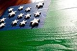 Green Mountain Boys Wood Flag - Vermont Wood Flag - Revolutionary War Flag