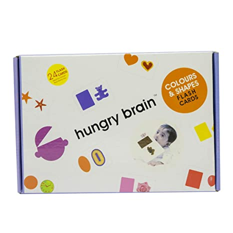 3f794b179 Buy Hungry Brain Colours and Shapes Flash Cards (Multicolour) Online at Low  Prices in India - Amazon.in
