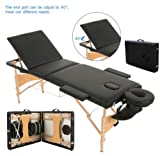 New MTN-G 3 Fold 84''L Massage Table Facial Bed Portable W/2 Bolster+Sheet+Cradle Cover HM2