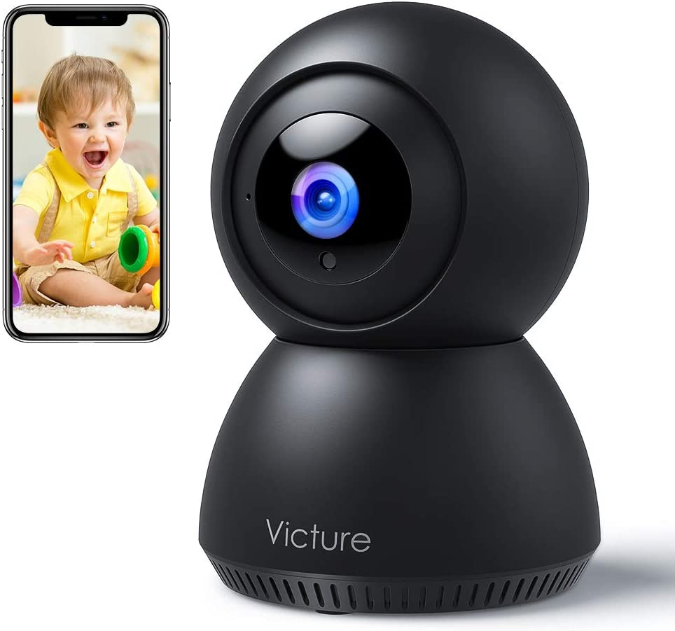 Victure 1080P FHD Baby Monitor with Smart Motion Tracking Sound Detection 2.4G WiFi Camera, Auto Night Vision, 2-Way Audio IP Surveillance Pet Camera iOS/Android
