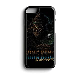 King Kong The Star Of Ping Pong Am Fit For iPhone 6 Plus Hardplastic Back Protector Framed Black