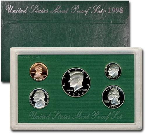 1998 Clad U.S. Mint-Proof Sets Mixed Dollar GEM Proof Uncertified