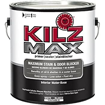 KILZ MAX Maximum Stain and Odor Blocking Interior Latex Primer/Sealer, White, 1-gallon