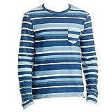 Polo Ralph Lauren Men's Custom-Fit Striped Long Sleeve T-Shirt (Navy, XX-Large)