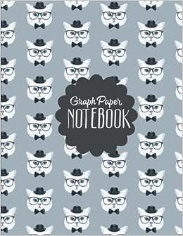 Dapper Cat Graph Paper Notebook: Math Graph Paper Notebook