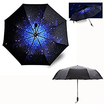 Itian Estrellas Cielo Paraguas,Anti-Viento Anti-UV 50+ Lluvia / Paraguas