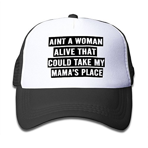 Ain't A Woman Alive That Could Take My Mama's Place Mesh Hat Trucker Style Outdoor Sports Baseball Cap With Adjustable Snapback Strap For Kid's Pink for cheap