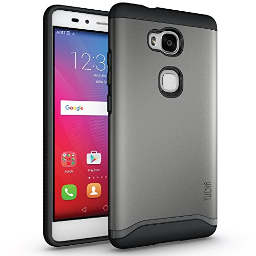 Huawei Honor 5X Funda, Caja protectora TUDIA Slim-Fit MERGE de doble capa para Huawei Honor 5X (Negro Mate) Grafito