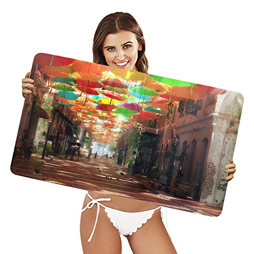 Price comparison product image XtremePads [ Extra Large Gaming Desk Mouse Mat / Pad ] - ( Artistic City Umbrella Horse Building )