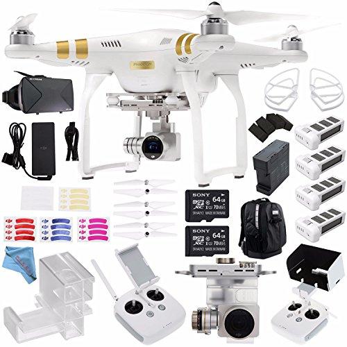 DJI Phantom 3 Professional Quadcopter with 4K Camera and 3-A
